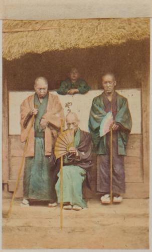 Shimooka Renjō, 'Anma (Blind men, or masseurs)'/ 'Doctors', c.1863-65.