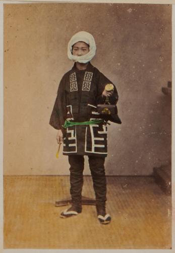 Shimooka Renjō, 'Sakan (Plasterer)'/ 'Koskai, or a European's Jap. servant', c.1863-70. 'Koskai' appears to be a corruption of a Japanese male given name.