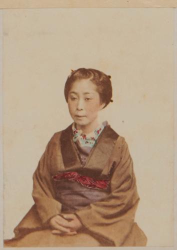 Shimooka Renjō: 'Yakunin no mekake (Mistress of an official)'/ 'Yakonin's wife', c.1863-70.