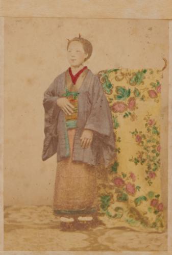 Shimooka Renjō, 'Ko-hatamoto no musume (Low-ranking Bannerman's girl)'/ 'Enomoto's mistress', c.1863-70.