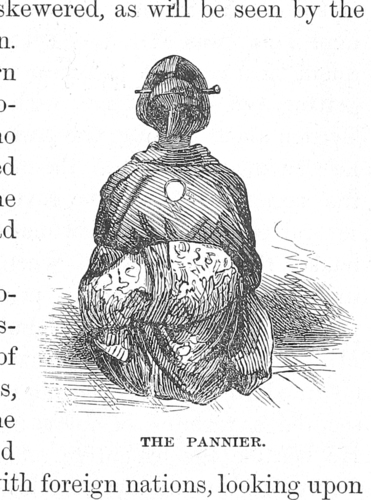 Unidentified artist, after Shimooka Renjō, 'The Pannier', engraving from Charles Carleton Coffin, Our New Way Round the World, Boston, 1869, 451.