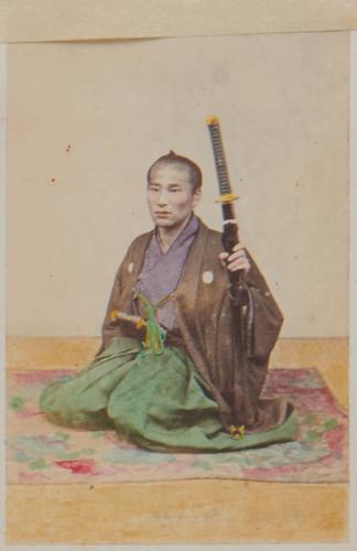 Shimooka Renjō, 'Dai-shōnin no musume [illegible] (Girl of a wealthy merchant)', c.1863-70.