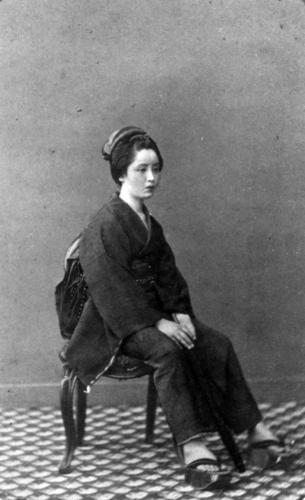 Felice Beato, 'The Belle of Yokohama', albumen print, c.1866-67.