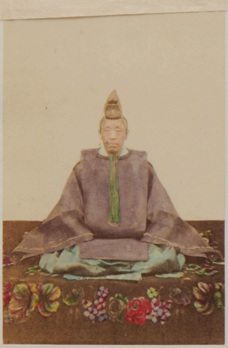 Unidentified Photographer, 'Dainagon (Chief Councillor of State)'/ 'Next rank but one to the Mikado', c.1863-70.