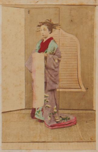 Shimooka Renjō, 'Yoshiwara ichiban jorō (Number One Prostitute in Yoshiwara)'/ 'Une belle du demi-monde', c.1863-70.