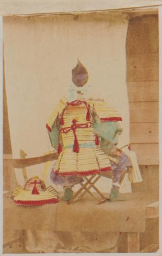 Shimooka Renjō, 'Daimyō jinchū (Daimyō at the front)'/ 'A daimio equipped for battle', c.1863-70.
