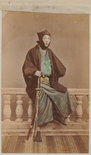 Uchida Kuichi, [Illegible] (Portrait of unidentified samurai), c.1868-70