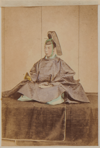 Shimooka Renjō, 'Dai-yakunin (Higher-ranking official)'/ 'Daimyo Class 1'; 'An influential yakonin in seating psoture, c.1863-70.