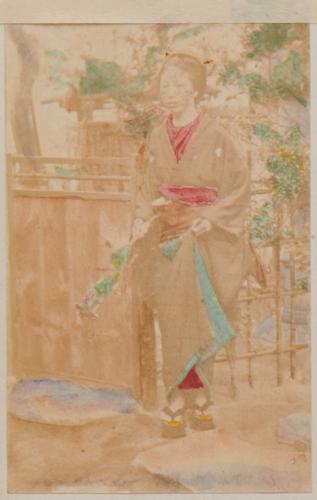 Shimooka Renjō, 'Hatamoto no musume (Bannerman's Girl)'/ 'Enomoto's mistress', c.1863-70.